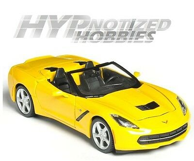 1//24 CORVETTE STINGRAY CONVERTIBLE 2014 Yellow MAISTO SPECIAL EDITION