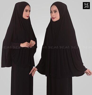 Di Larghe Vedute Khimar One Piece Abaya Jilbab Al Amira Hijab Ramadhan Eid-mostra Il Titolo Originale