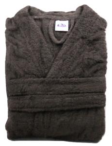 Kimono Dressing Gown 100/% Cotton Terry Towelling Bathrobe Medium Size Dark Brown
