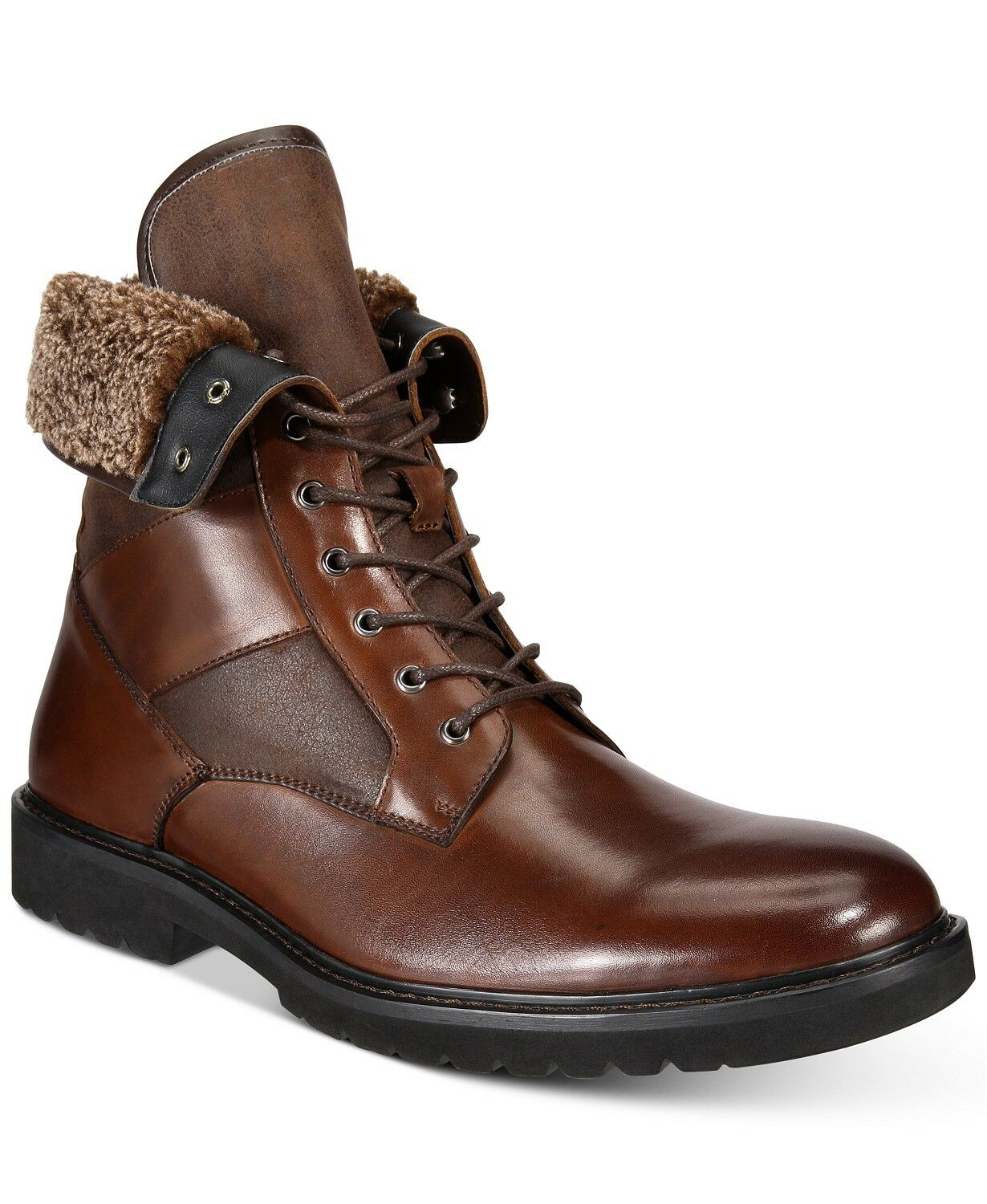 Bar III Men's LEATHER Dress Boots Griffin Lace-Up Boots BOOT Size 10.5 M