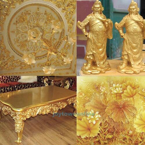 100 Sheets Gold Sliver Copper Leaf Leaves Foil Paper Gilding Craft Decor 14X14cm