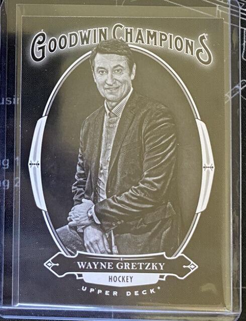 Wayne Gretzky 2020 UD Goodwin Champions Black And White Case Hit! | eBay