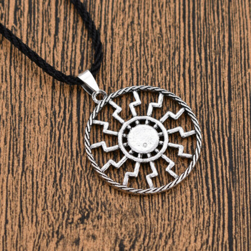 Sri Yantra Mandala Viking Amulet Necklace Talisman Good Luck Jewelry Charm Gift