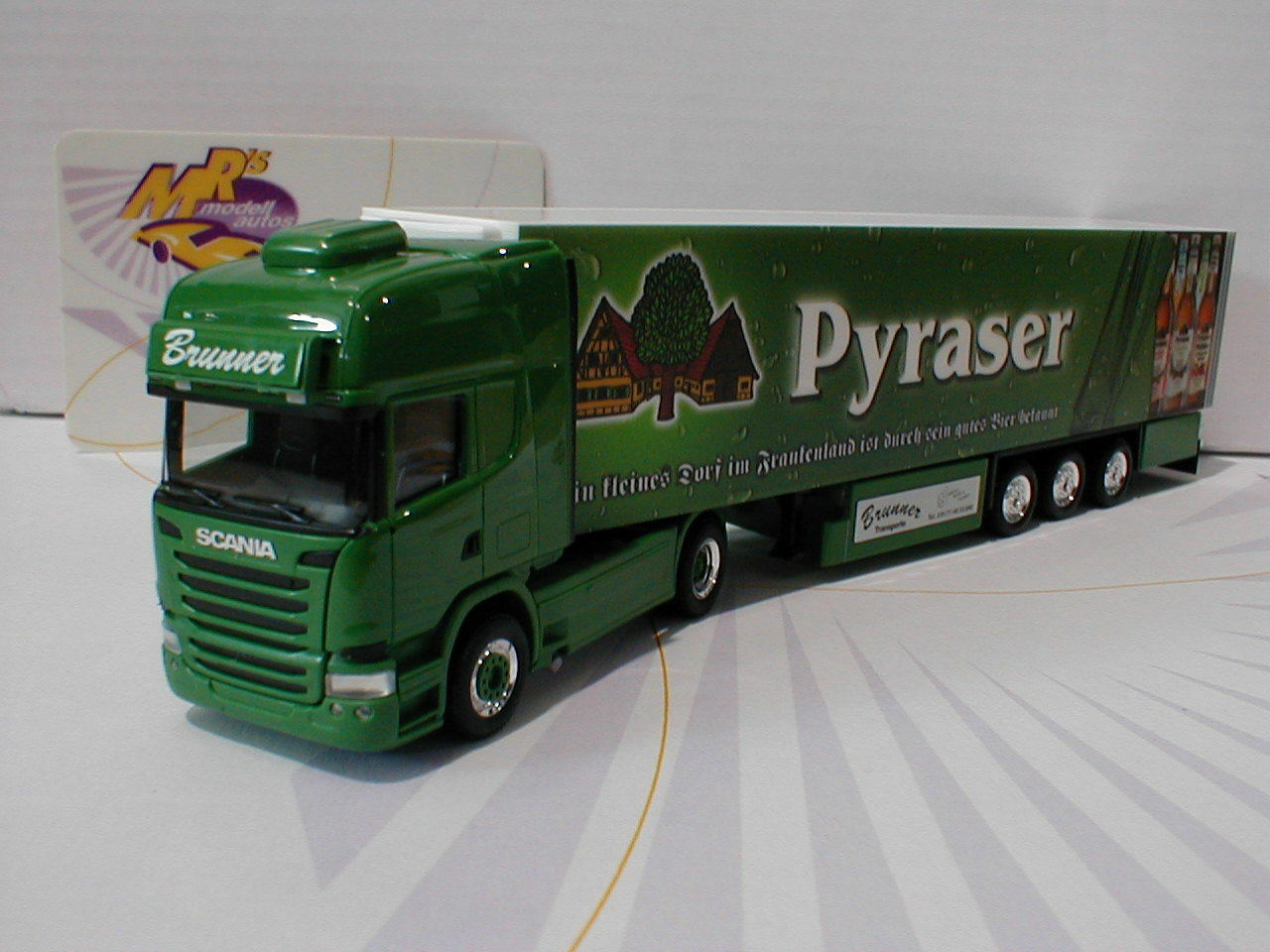 HERPA 306874   scania r tl küko-sz  transporteur Brunner pyraser brasserie  1 87