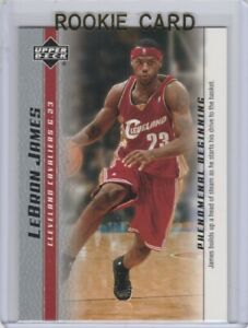 Lebron James Rookie Card Upper Deck Basketball 2003 04 Cleveland Cavaliers Rc Ebay