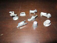 replacement monopoly play pieces dog shoe iron wheelbarrow thimble car token hat