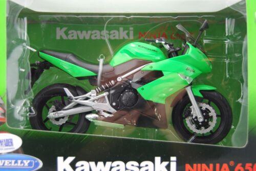 WELLY KAWASAKI NINJA 650R 1:10 DIE CAST METAL NEW IN BOX