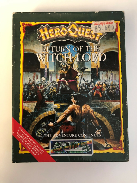 Heroquest, commodore 64, Return of the Witch Lord  Kan…