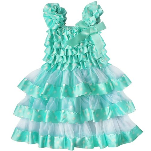 Kid Baby Flower Girls Dress Princess Party Pageant Wedding Ruffle Tutu Dresses
