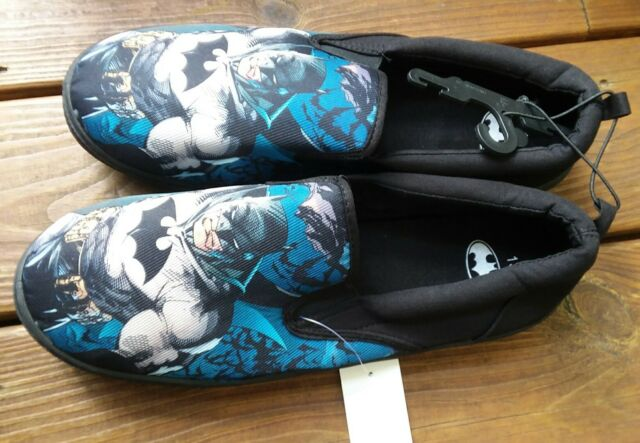 Men's BioWorld DC Comics BATMAN Black Canvas SlipOn Shoes Size 10 New With Tag's