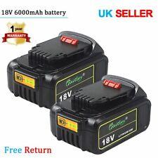 2x 18V 6.0Ah Li-ion Battery for DEWALT 18Volt XR DCB184 DCB182 DCB183 DCB180 6Ah