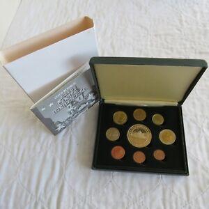 CZECH REPUBLIC 2004 9 COIN EURO PROTOTYPE PATTERN PROOF SET - boxed/coa