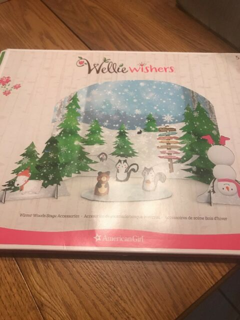 American Girl Wellie Wishers Winter Woods Stage Accessories NIB