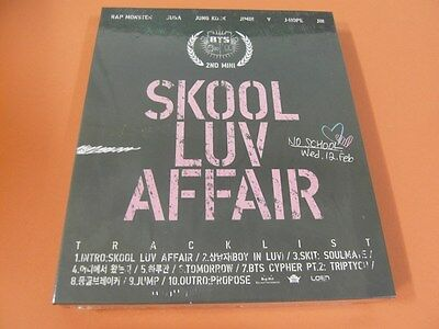 BTS (BANGTAN BOYS) - SKOOL LUV AFFAIR CD +BOOKLET +PHOTOCARD K-POP