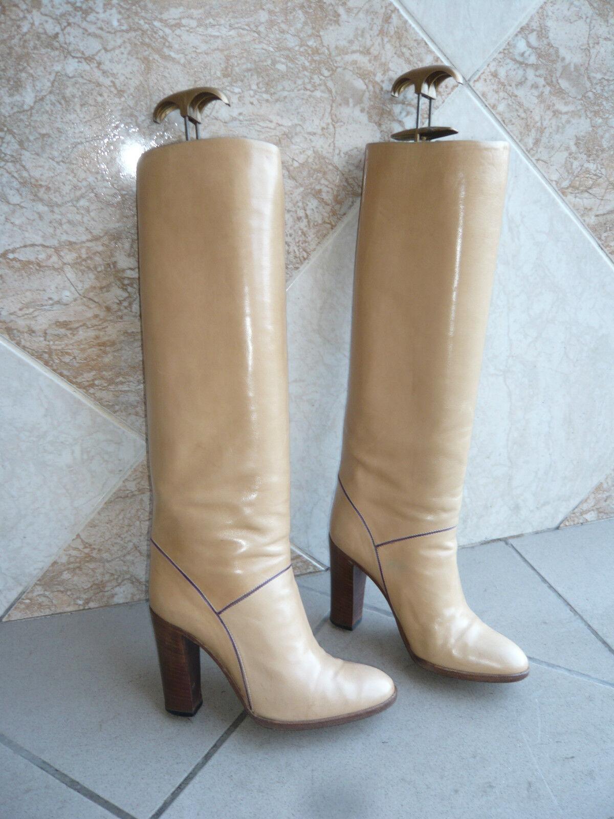 Stiefel vintage 1982  Beige Beige Beige  SARELLA Italien t. 35   f20466