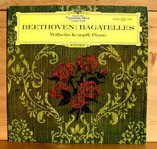 SLPM 138 934 Wilhelm Kempff Beethoven Bagatelles 1964 NEAR MINT LP