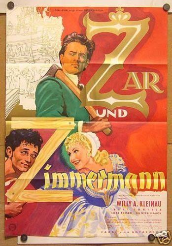 ZAR UND ZIMMERMANN (Kinoplakat '56) - BERT FORTELL / LORE FRISCH