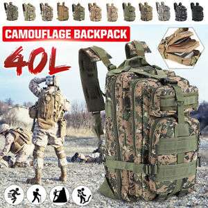 40L-Outdoor-Military-Tactical-Bag-Camping-Hiking-Trekking-Waterproof-Backpack