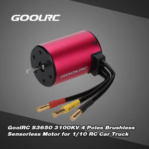 GoolRC S3650 3100KV 4 Poles Brushless Sensorless Motor for 1//10 RC Car K3T8