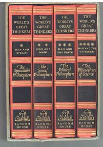 World-039-s-Great-Thinkers-4-Vol-Set-1947-Saxe-Commins-Rare-Vintage-Books