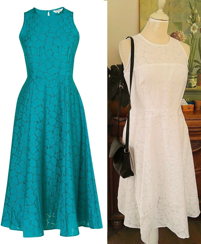 Designer L.K.Bennett Kiera party dress size ivory or green
