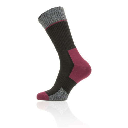 SealSkinz Unisex Solo Quickdry Mid Length Socks Black Red Sports
