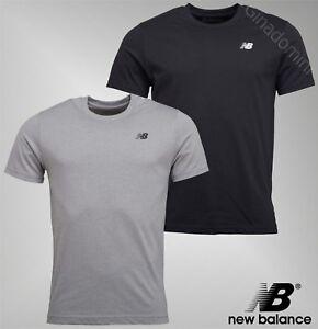 Homme-New-Balance-Haut-a-encolure-ras-du-cou-a-manches-courtes-en-jersey-T-Shirt-Tailles-S-a-XXL