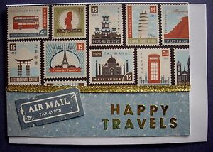1-Hand-made-card-Happy-Travels-Postage-2-for-1-to-6-cards