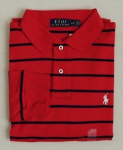 Polo-Ralph-Lauren-Striped-Long-Sleeves-Pony-Classic-Soft-Touch-Holiday-Shirt-M