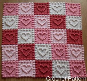 Heart Motifs Baby Blanket