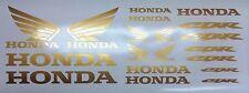 Gold Honda CBR 600 900 1000 Fireblade Motorsport Aufkleber Racing Set  Motorrad