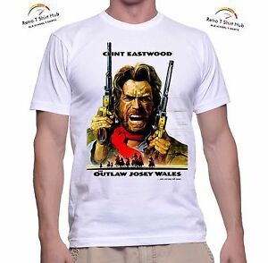 Details about CLINT EASTWOOD Outlaw Josey Wales COWBOY WESTERN MOVIE Retro  Vintage T SHIRT