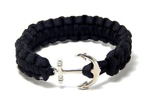 Nautical-Anchor-Bracelet-Paracord-Men-Women-Fashion-Jewelry-Hand-Made-USA