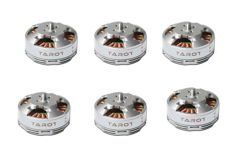 Tarojo 6PCS 4108 6S 380 kV tipo de disco Multi rojoor helicóptero sin cepillo del Motor TL68P07