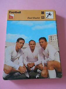 Football Real Madrid Fiche Card 1977