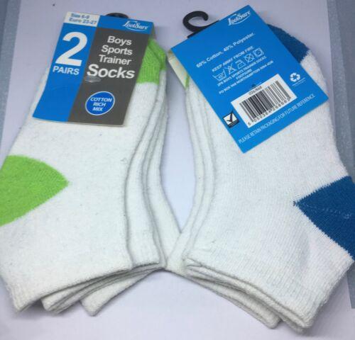 2 PAIRS BOYS high quality warm winter sports socks size 6-9 UK 23-27 EU new
