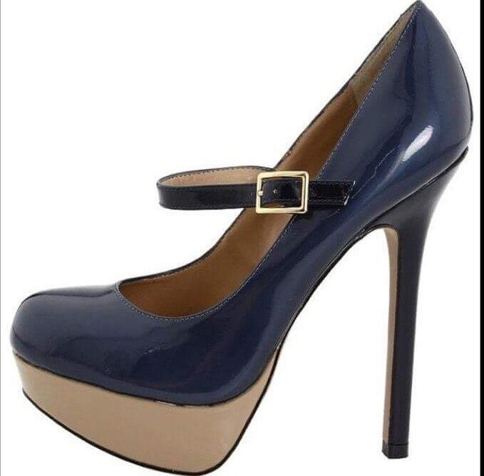 Steve Madden Bellahh Farbe Block Tri Tri Tri Patent Leather High Heels 7 New In Box 7c0277
