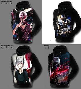 Anime Tokyo Ghoul Cosplay Kaneki Ken Black Sweatshirt Hoodie Jacket