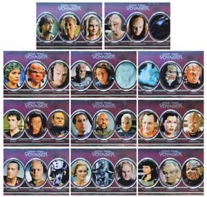 Star Trek Voyager Heroes /& Villains Trading Card Aliens Chase Set