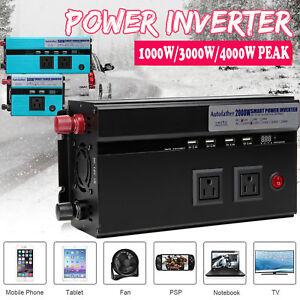 Erneuerbare Energie Sincere 4000w Peak Dc12v To Ac 240v Power Inverter Converter 2usb Output Stable Ww Heimwerker