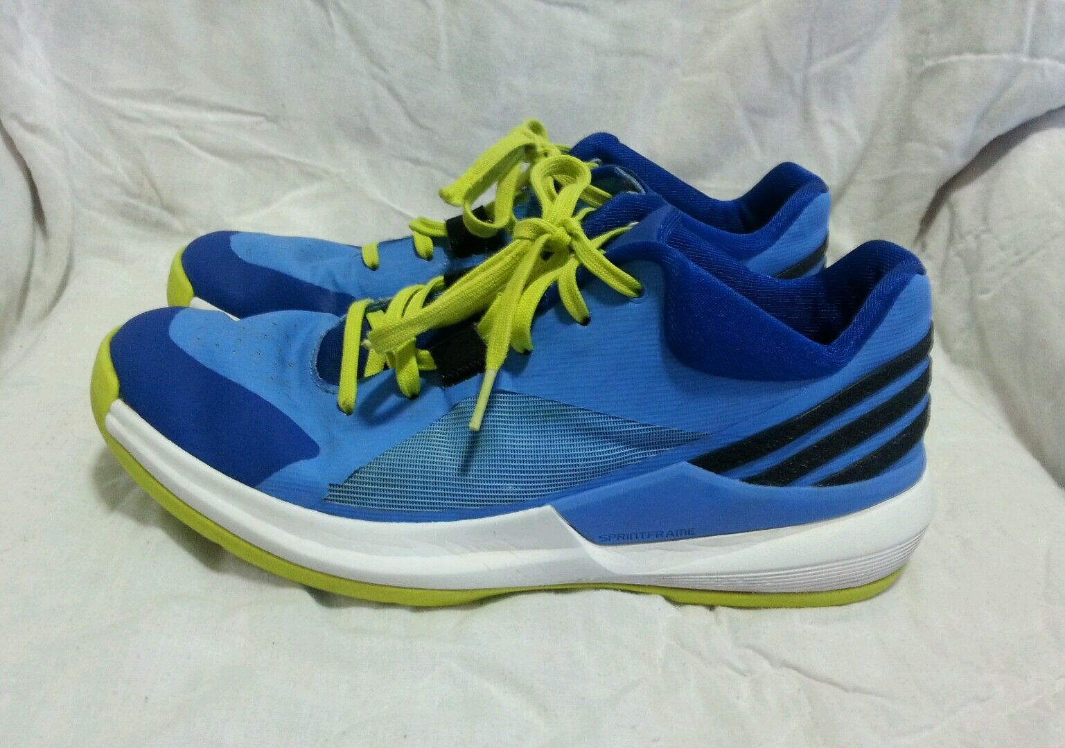 ADIDAS SPRINT FRAME BASKETBALL SHOES - BLUE YELLOW WHITE  Price reduction MEN`S Comfortable and good-looking
