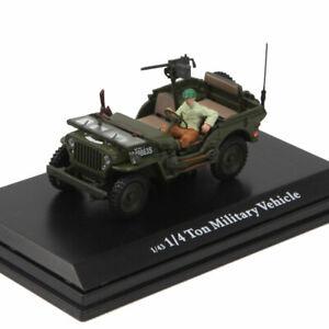 Escala-1-43-Jeep-Willys-Overland-MB-Ejercito-Militar-Modelo-de-Coche-Diecast-Coleccion