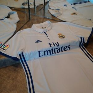 adidas 16/17 Real Madrid FC Home Jersey L (Ronaldo, Modric, Bale, Isco, Asensio)