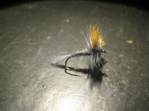 6 Size 12 DARK HENDRICKSON PREMIUM LIGAS FLY FISHING FLIES