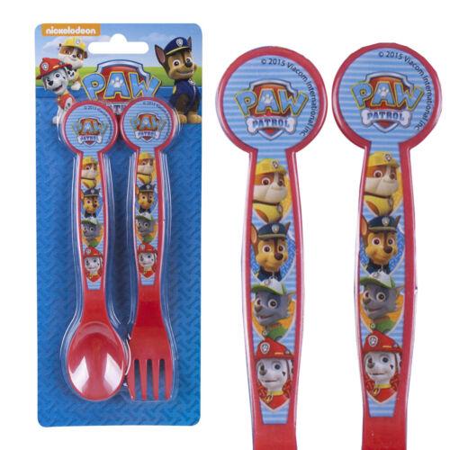 Nickelodeon Paw Patrol Plastic Picnic Lunch Dinner Spoon /& Fork Cutlery Set