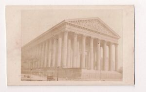 Vintage-CDV-La-Madeleine-Paris-Church-of-the-Madeleine-Rare-Photo
