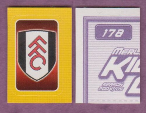 Merlin Poche Football 2004-05 Stickers Fulham Singles divers
