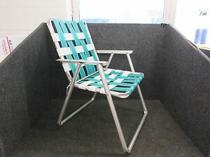 Folding Web Lawn Chairs.Details About Vintage Retro Aluminum Folding Webbed Lawn Chair Aluminum Arms Teal White