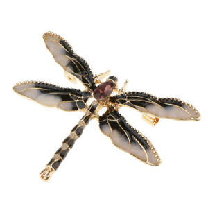 Enamel Red Antique Inspiration Dragonfly Animal Insect Brooch Pin Jewelry