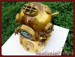 Antique U.S Navy Mark V Divers Diving Helmet Scuba Decorative Vintage SCA Gift